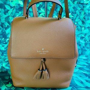 Warm ginger Kate Spade Backpack Hayes Medium Size